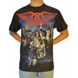 Aerosmith Playera Motorcycle