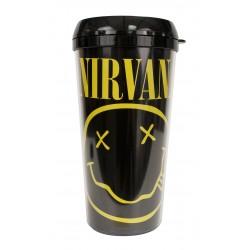 Nirvana Taza de Viaje Smiley