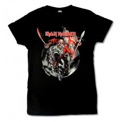 Iron Maiden Women's Shirt The Trooper Maiden England Tour 2012