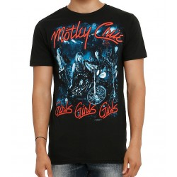 Motley Crue Playera Girls Girls Girls No Back