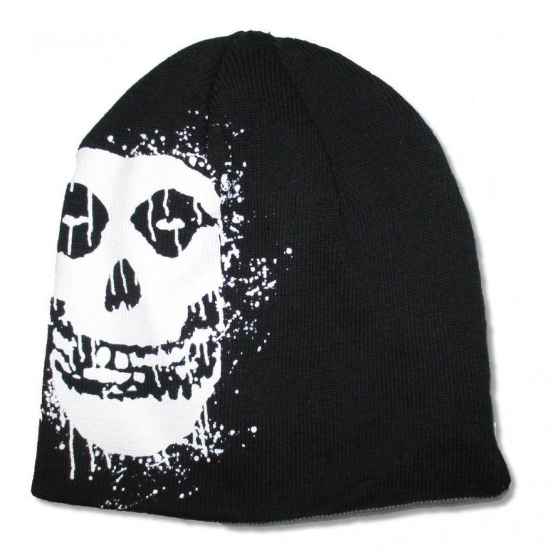 Misfits Reversible Beanie Skulls Crimson Ghost - Shaolin Rock Shop 0fa2acd432e