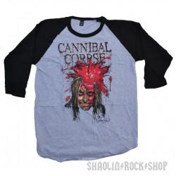Cannibal Corpse Playera Raglan  High Velocity Impact Spatter