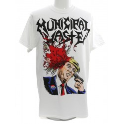 Municipal Waste Playera Trump Walls of Death White