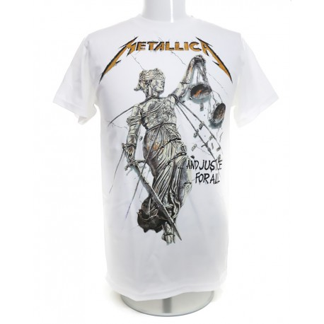Metallica Playera ...And Justice For All Album Cover White
