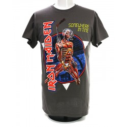 Iron Maiden Playera Somewhere in Time Vintage Circle