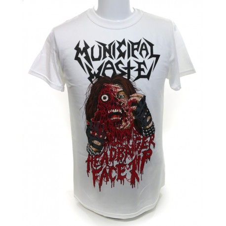 Municipal Waste Headbanger Face Rip Shirt