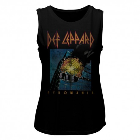 Def Leppard Women Sleeveless Shirt Pyromania