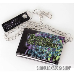 Avenged Sevenfold A7x Cartera C/ Cadena Starry Deathbat